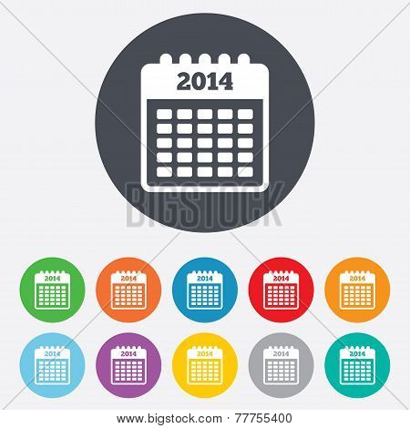 Calendar sign icon. Date or event reminder.