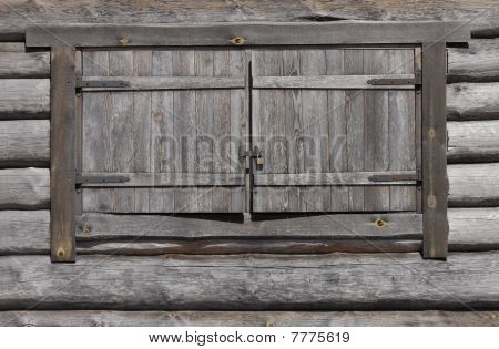 Wooden Window With Lock