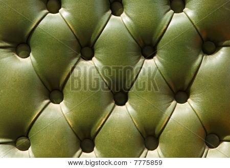 Pattern Of Old Green Leather Upholstery Texture