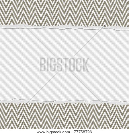Brown And White Torn Chevron Frame Background