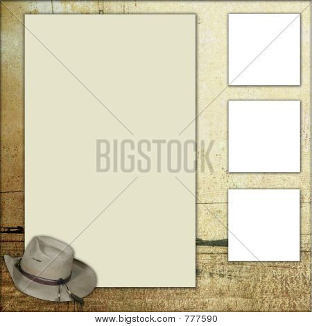 Country Theme Scrapbook Frame Template