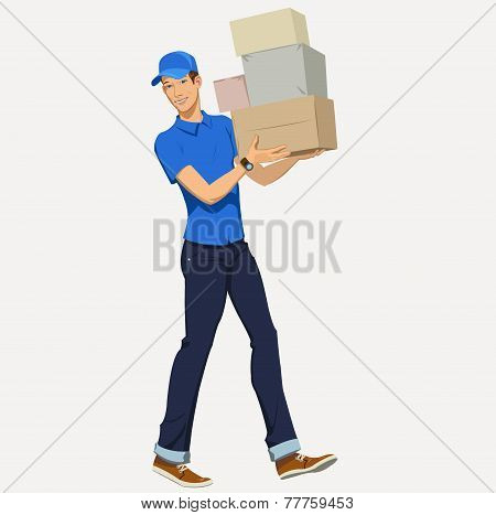 Delivery man - Illustration