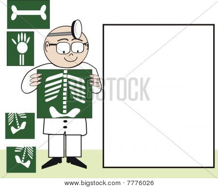 Medical x-ray cartoon