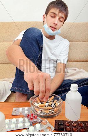 Sick Teenager Smoking