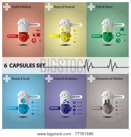 Health And Medical Capsule Set