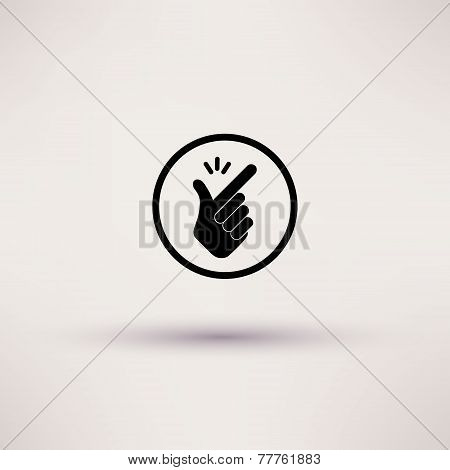 Icon - snap of the fingers. Vector illustrations.