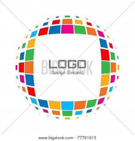 Abstract Bright Rainbow Halftone Logo