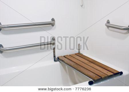 Bench Seat On Handicap Tub