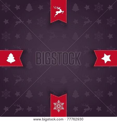 Christmas Greeting Card 4 Flags