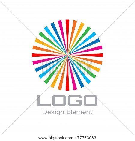 Colorful Bright Rainbow Circle Logo.