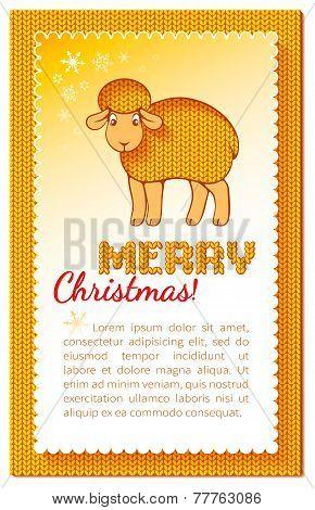 Christmas Layered Yellow Card