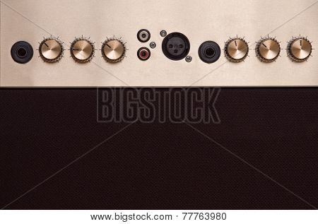 knobs of guitar amp