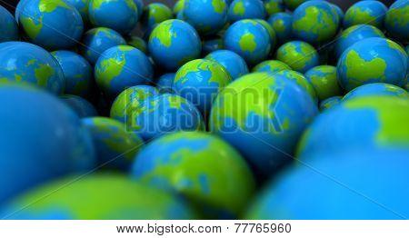 Gum Ball Earth Globes