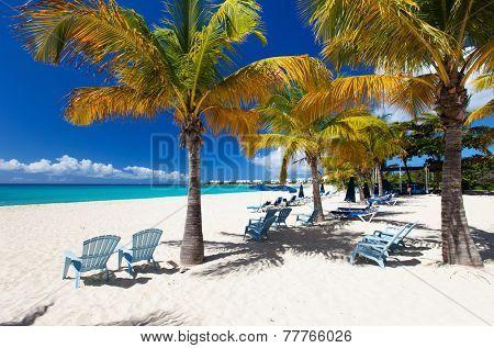 Perfect Caribbean beach on Anguilla island