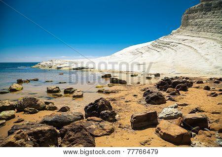 Rocks In Front Of Scala Dei Turchi