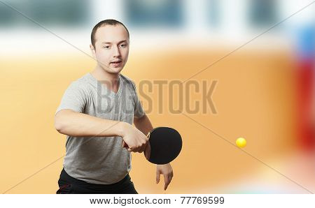 Table tennis game.