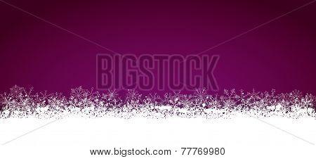 Lon Purple Christmas Card Snowflakes