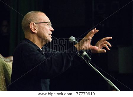 MOSCOW, RUSSIA, NOVEMBER, 23: Director Andrei Konchalovsky (The Postman's White Nights). VGIK Student Festival. November, 23, 2014 at Gerasimov Institute of Cinematography  in Moscow, Russia