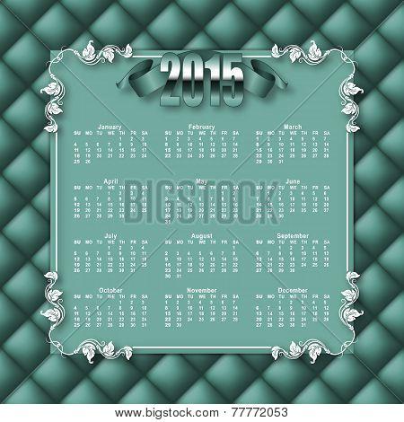 Elegant template  of calendar