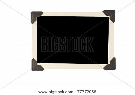 Slanted Old Photo Frame With Corners