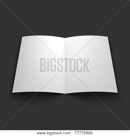Magazine, booklet, postcard or brochure mockup template.