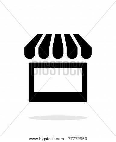Kiosk icon on white background.