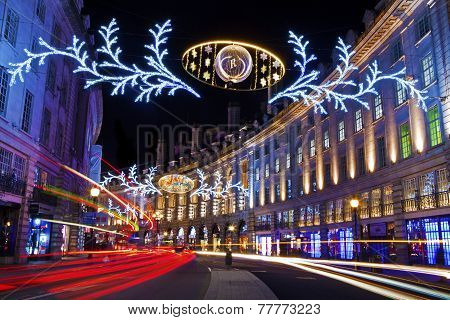 Regent Street Christmas Lights In London
