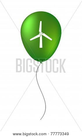 Vector Balloon Icon With A Wind Generator