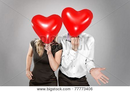 Couple With Balloons Instead Of A Head