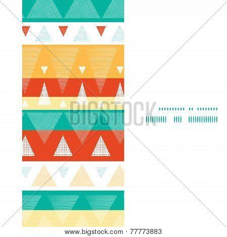 Vector vibrant ikat stripes vertical frame seamless pattern background