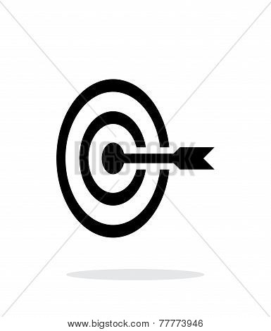 Target icon on white background.