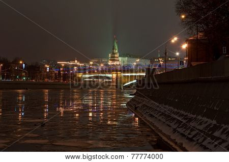 World Cultural Heritage Site By Unesco - Moscow Kremlin At Night.