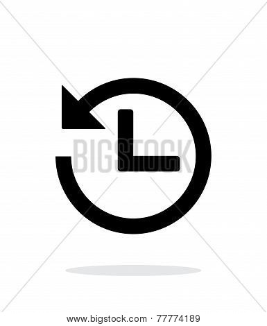 Countdown icon on white background.