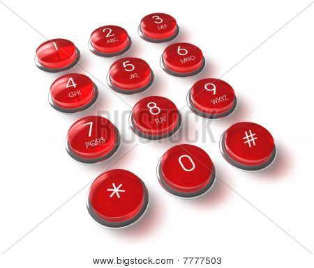 Red phone keyboard