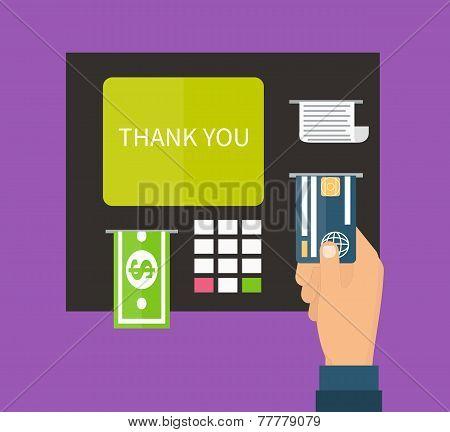 ATM terminal, banking