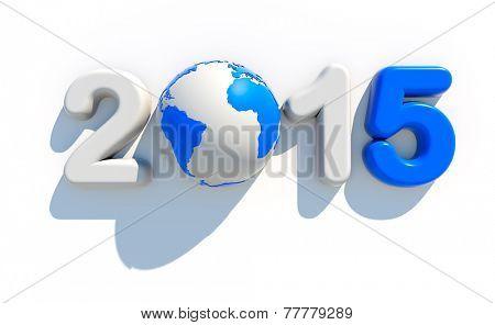 2015 new year logo | 3d illustration