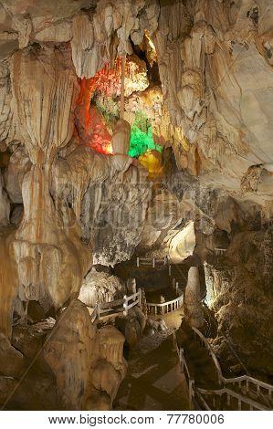 Beautiful Tham Jang cave, Vang Vieng, Laos.