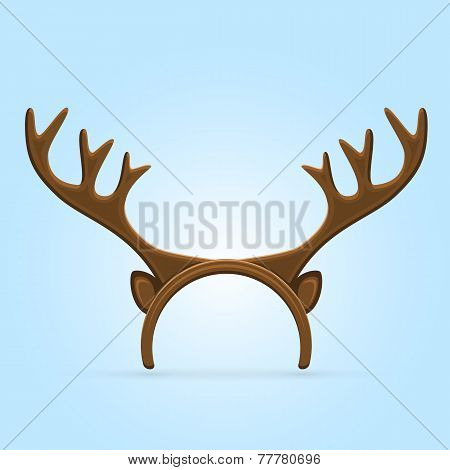 Antler On Blue Background