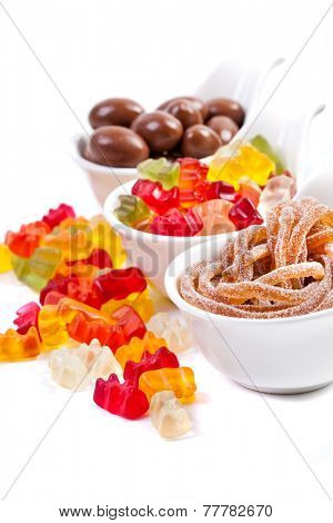 Mixed colorful jelly candies