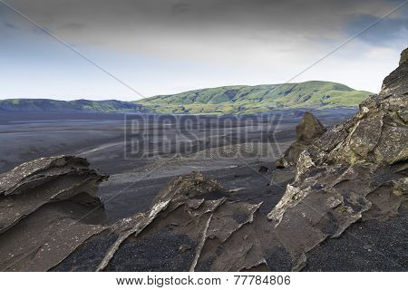 Bleak, Rugged,lava Landscape, Iceland