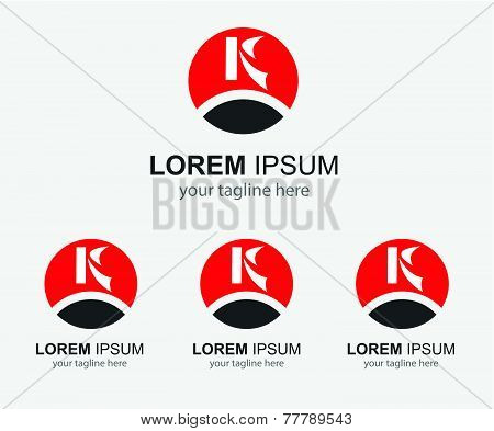 K letter logo - Template icon letter K