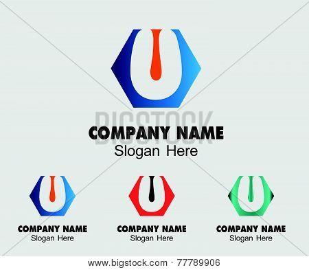 Letter U alphabet logo vector letter U icon
