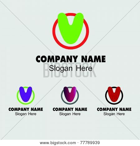 Letter V logo design template letter V icon