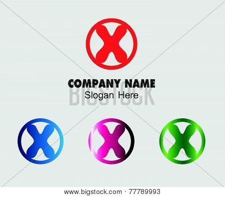 Letter X alphabet logo vector letter X icon