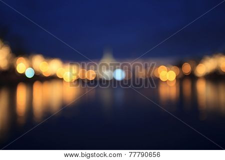 Beautiful Light Of Blur Bokeh Background Use As Dazzle Backdrop ,blurry Scene Of Lighting