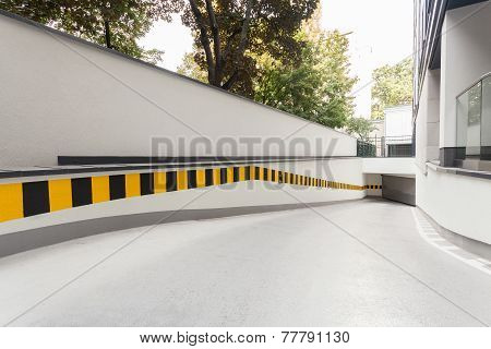 Ramp In Modern Building