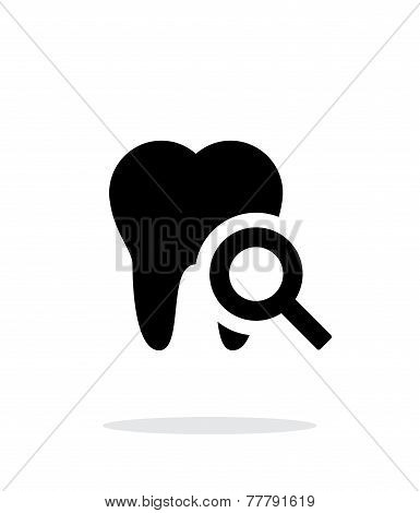 Tooth diagnostic icon.