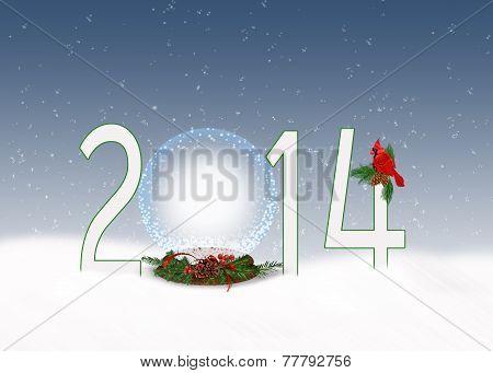 Christmas  2014 snow globe