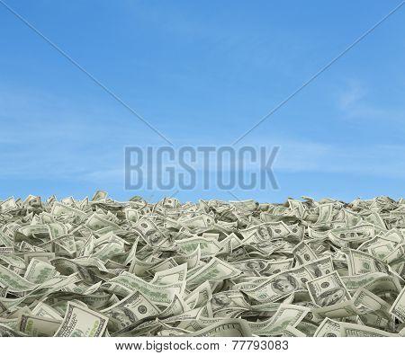 Dollar Bills Falling