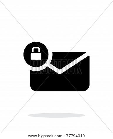 Secure mail icon on white background.
